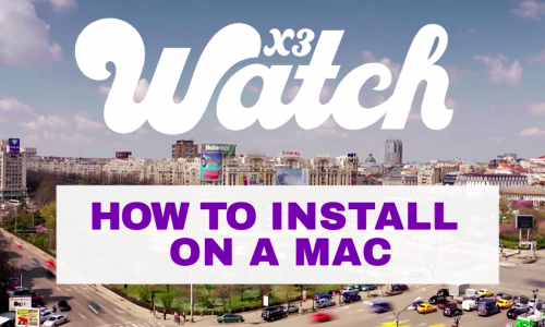 X3watch Mac Install