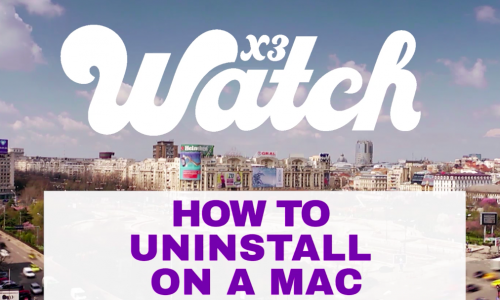 Uninstall Mac X3watch